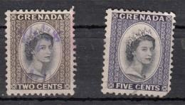 Grenada  Elisabeth II   2valeurs - Grenade (...-1974)