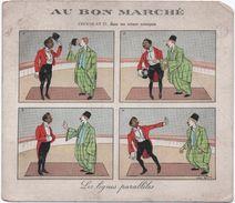 """Grande Image """"Au Bon Marché""""/Chocolat Dans Ses Scénes Comiques/Les Lignes Paralléles/Maison A Boucicaut/Vers1900  IMA236 - Au Bon Marché"""