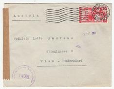 Censored Letter Cover Travelled 1952 To Austria B170925 - 6. 1946-.. Repubblica