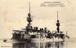 Marine Militaire Francais   -  'L'Amiral-Charner'  -    Croiseur Cuirassé   -  CPA - Guerre