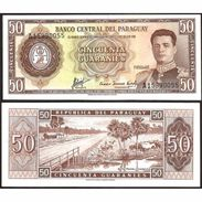 PARAGUAY - 1963 -  50 Guaranies  P197b  FDS - Paraguay