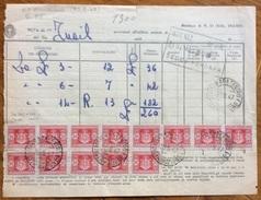 LUOGOTENENZA SEGNATASSE L. 20  BLOCCO SU MOD. 32 FERRARA CENTRO DISTRIBUZIONE 30/5/47 - 1944-46 Lieutenance & Humbert II