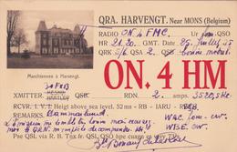 Carte Radio - Radio Station ON.4HM - QRA. Harvengt Near Mons (Belgium) - Radio Amateur