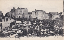 LA ROCHE SUR YON (85) Marché Aux Moutons Rue De Saumur . Cachet Militaire Train Sanitaire 21 - La Roche Sur Yon