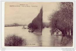 78 - Mantes - Ile Aux Dames - Vue Du Pont (inondations 1910) - Mantes La Jolie