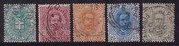 Italia Regno 1891-96 Umberto I 59/64 Us. - 1861-78 Vittorio Emanuele II