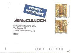 €0.51 X 2 PRIORITY ITALY - 1945-.... 2. Republik