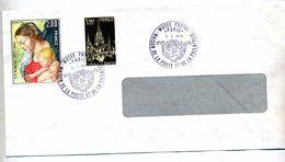 Lettre Cachet Paris Musee Postal Sur Rubens - Postmark Collection (Covers)