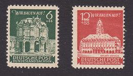 Germany, Soviet Occupation, Scott #15NB1-15NB2, Mint Hinged, Zwinger, Dresden, Rathaus, Dresden, Issued 1946 - Soviet Zone