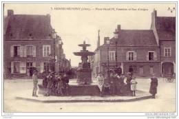 18 - Henrichemont - Place Henri IV - Fontaine - Rue D'anjou - Henrichemont