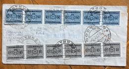 LUOGOTENENZA SEGNATASSE 60+40 C( FIL. R). Striscie  Di Sei  CODIGORO FERRARA  9/7/47  RR - 1944-46 Lieutenance & Humbert II