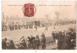 CPA 50 SAINT LO LE CHAMP DE COURSES INAUGURATION 1907 CARTE RARE !! - Saint Lo