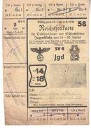 REICHSFFETKARTE  0246  SLOVENIJA  SREDNJA VAS    -WOCHEIN  MITERDORF - Documentos