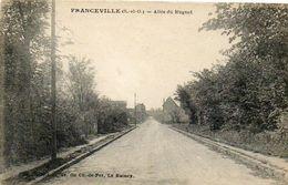 CPA - FRANCEVILLE (93) - Aspect De L'Entrée Du Bourg Et De L'Allée Du Muguet Dans Les Années 20 - Autres Communes