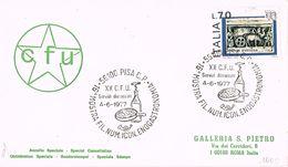25737. Carta F.D.C. PISA (Italia) 1977. Festival De Gastronomia VINO, Wein, Uvas - Erinofilia