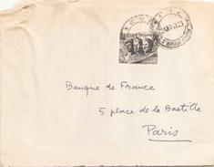 ITALIE FRAGMENT D ENVELOPPE DE 1953 DE MILAN POUR PARIS - 6. 1946-.. Repubblica