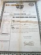 ARGENTINA - Rare!!  January 1857  PASSPORT  -PASSEPORT - 22 Years Old URUGUAYAN Boy To Travel To MONTEVIDEO - Documentos Históricos