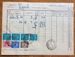 LUOGOTENENZA - REPUBBLICA MISTA SEGNATASSE SU MOD.32 ED. 1941-XIX  FERRARA CENTRO CONTROLLORE IN DATA 3/1/48 - 1944-46 Lieutenance & Humbert II