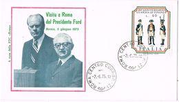 25743. Carta F.D.C. ROMA (Italia) 1975. Visita A Roma Presidente FORD - F.D.C.