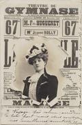 JOURNAL THEATRE DU GYMNASE  ARTISTE  Melle ROLLY - CPA - Précurseur 1902 - Artistes