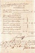 LAS.Félicité De CUSTINE.COMPTE DE MADEMOISELLE DE CUSTINE.Reçu De Mme.Normand.10 Février 1827.Decompte Signé En Bas. - Handtekening