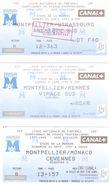 3 BILLETS FOOTBALL STADE DE LA MOSSON MONTPELLIER STRASBOURG AS MONACO RENNES SAISON 1997 - Autres