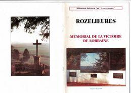 """MILITARIA  Livre Réédition Spéciale """"90 ème Anniversaire De La Bataille De Rozelieures"""" Broché 38 Pages TBE - Libri, Riviste & Cataloghi"""