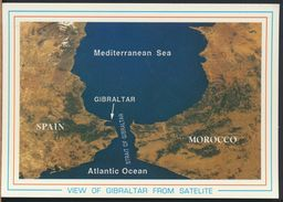 °°° 8279 - VIEW OF GIBRALTAR FROM SATELITE °°° - Gibilterra