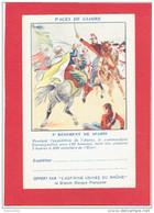 CAMPAGNE D ALGERIE 3e REGIMENT SPAHIS COMMANDANT CASSAIGNOLLES VERS 1836 FRANCHISE MILITAIRE PUBLICITE ASPIRINE - Otras Guerras