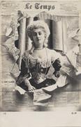 Journal LE TEMPS -  CECILE SOREL Comtesse De SEGUR -  CPA -  Précurseur - Artistes