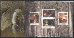 INDIA, 2017,FDC, Miniature Sheet, MS, Caves Of Meghalaya, Tourism, Environment,Jabalpur Cancelled. - Airmail