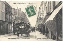 RUE DE FRANCE. AUTUBUS A CHEVAL - Fontainebleau