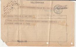 65398- TELEGRAMME SENT FROM CHISINAU TO BUCHAREST, TELEGRAPH, 1930, ROMANIA - Télégraphes