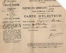 VP10.860 - Commune De FOLLES  -  Carte D'Electeur - Mr M. ? - Cartes