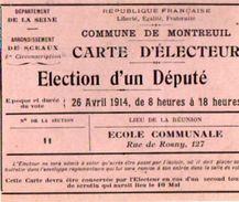 VP10.862 - Commune De MONTREUIL -  Carte D'Electeur - Mr G. BOUDACHIER - Cartes