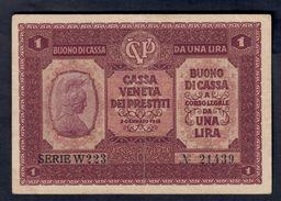 Cassa Veneta Dei Prestiti 1 Lira 1918 LOTTO 052 - Sin Clasificación