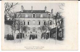 Cpa Blois - Institution De Melle Piquot  / Façade Prise Du  Quai St-Jean . (Précurseur). - Blois