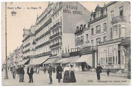 CPA PK   HEYST S/MER  LA DIGUE  IV  CARTE ANIMEE  GRAND HOTEL ROYAL - Belgique