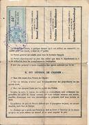 Permis De Chasse Départemental 1929 Département Du Cantal Montboudif Timbre à 44 Francs - Documentos Históricos