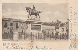 CPA Pionnière - Rio De Janeiro. - Statue Du Général Osorio. 1901 - Rio De Janeiro