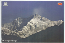 Mt.Kangchenjunga,8586 M, Third Highest Mountain In The World, Postcard Addressed To ANDORRA,with Arrival Postmark - Alpinisme