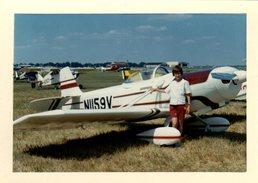 Photo Couleur Originale Bord Blanc Avion & Meeting Aérien Aux USA En 1970 Sur Papier Kodak - Avion Au Sol à Identifier - Aviazione