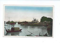 Indochine Vietnam Saigon Le Port CP Un Peu Vrillée Non écrite  Colonies Françaises Bien - Cambodia