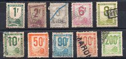 Timbres Pour Colis Postaux N° 1 - 2 - 3 - 5 - 8 - 15 - 21 - 23A - 24 - 28  Oblitérés Les 24 Et 28 Clairs - Oblitérés