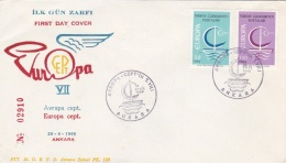 Turkey 1966 FDC Europa CEPT (G63-68) - Europa-CEPT