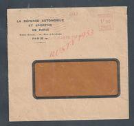LETTRE COMMERCIALE EMA 1940 PARIS 118 RUE D HATENES LA DEFENCE AUTOMOBILE SPORTIVE DE PARIS : - Marcophilie (Lettres)