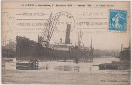 14 Caen  Inondations  31 Decembre 1925  Le Vieux Bassin - Caen