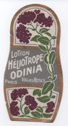 Etiquette/Lotion Héliotrope/ ODINIA/Val Des Roses/PARIS//1920-1930   PARF103 - Labels