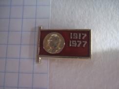 USSR Russia 60th Anniversary Of  Bolshevik Revolution Lenin - Badges