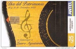 Nº 297 TARJETA DE URUGUAY DEL DIA DEL PATRIMONIO (MUSICA-MUSIC) - Uruguay